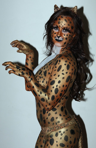 Hot Kandi Body painting Cheetah  by bodypainterssydney