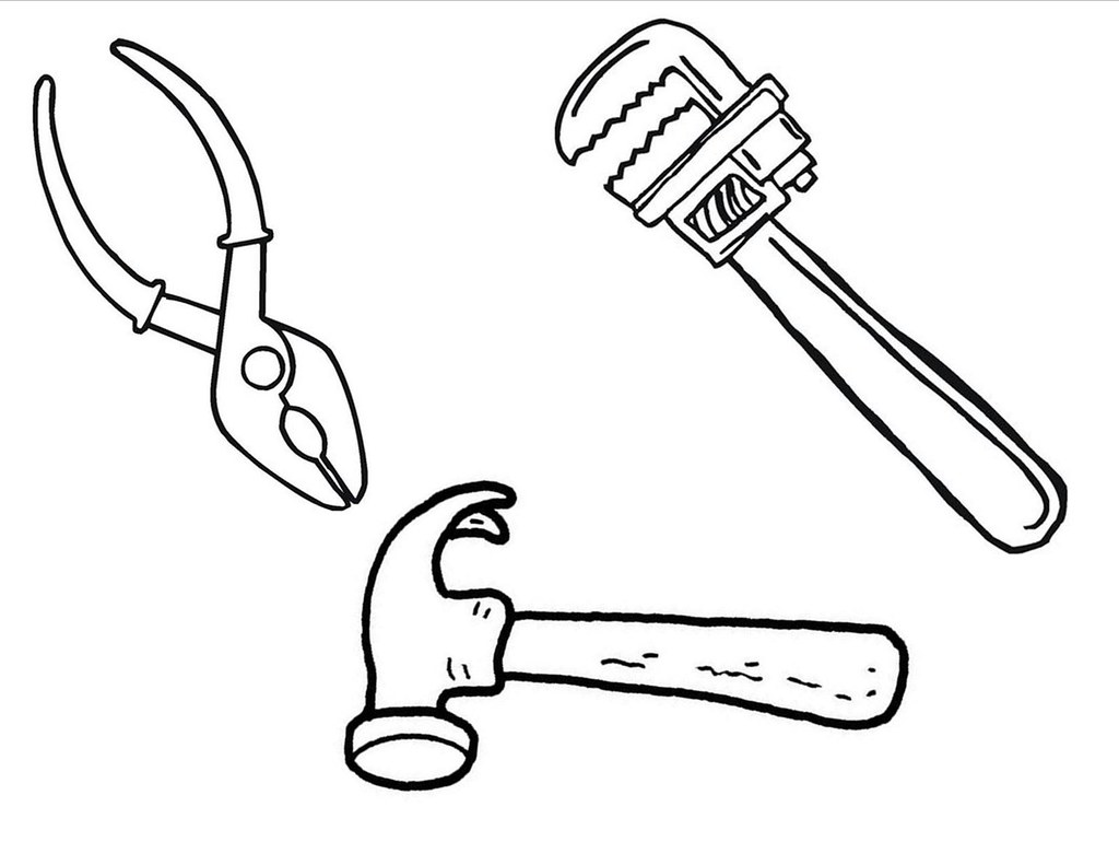 Construction tools coloring pages coloringpagesabc