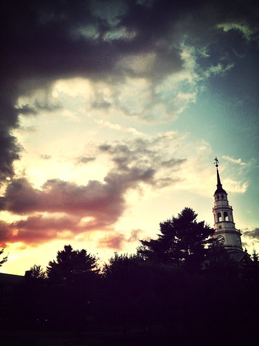 new light sunset england tower college outdoor library maine waterville colby iphoneography uploaded:by=flickrmobile flickriosapp:filter=mammoth mammothfilter