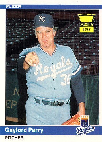 Baseball Card Bust Gaylord Perry 1984 Fleer