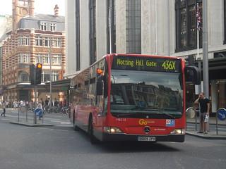 London General MEC15 on Route 436X, Kensington High Street