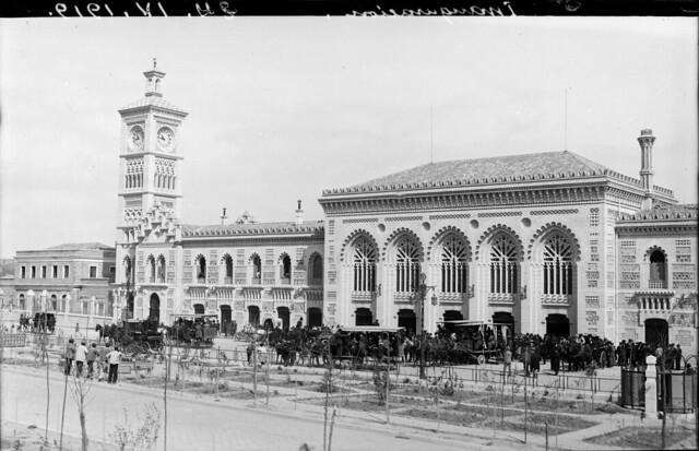 Inauguración de la Estación de Ferrocarril de Toledo el 24 de abril de 1919 © Archivo Histórico Ferroviario del Museo del Ferrocarril de Madrid. Fotografía de F. Salgado. Signatura 3475-IF MZA 0-7