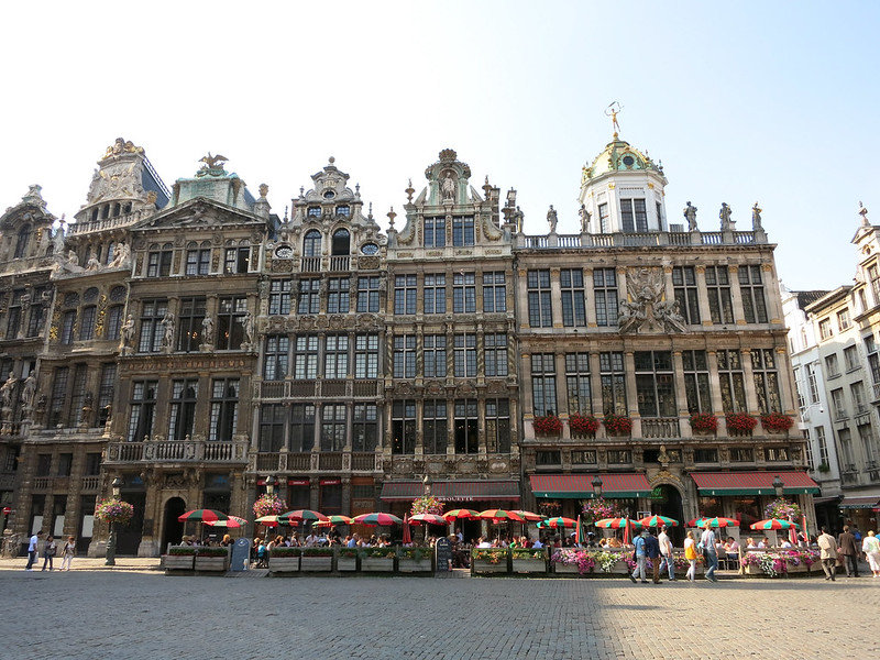 Old buildings in the Grand-Place.