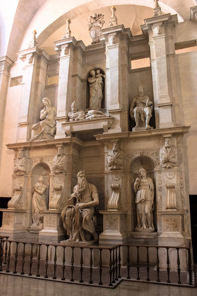 Michelangelo's Tomb of Pope Julius II, San Pietro in Vincoli, Rome