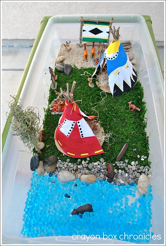 Native American Small World and Sensory Play (Photo from Crayon Box Chronicles)
