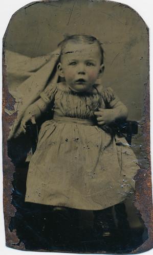 """""""Hidden mother"""" tin type baby portrait"""
