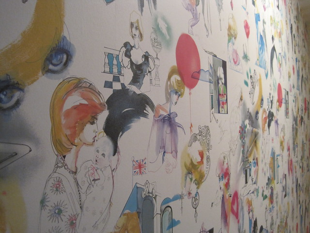Princess Diana Wallpaper in Kensington Palce