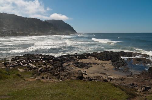 ocean mist oregon landscape view roadtrip