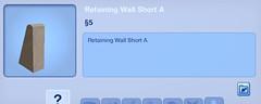 Retaining Wall Short A