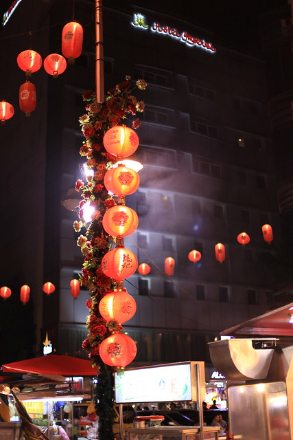 Chinese lanterns about the