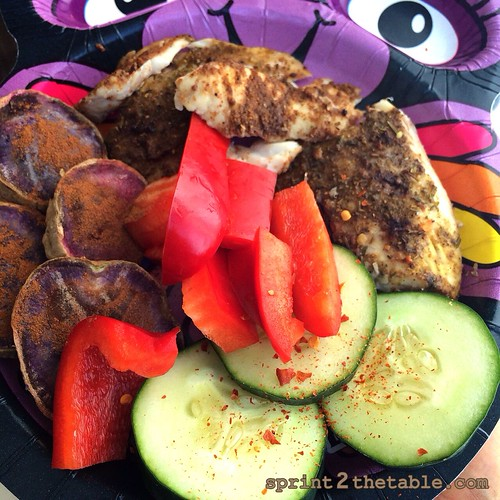 tilapia and purple sweet potato