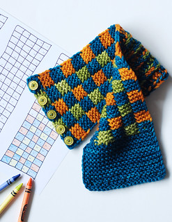 Color by Number Checkered Headband