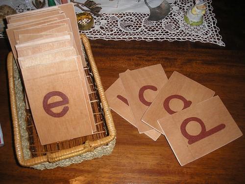 DIY Sandpaper Letters (Photo from Beautiful Sun Montessori)