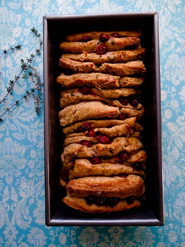 cranberry ginger pull apart bread