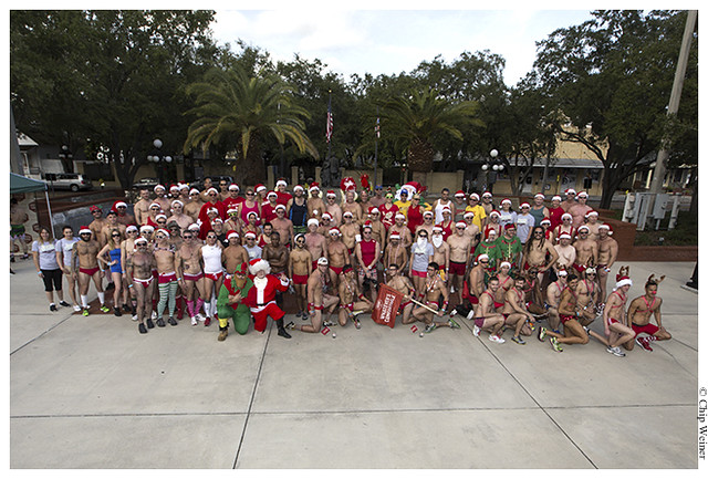 150 runners were expected for the fourth annual Santa Speedo Run Tampa Bay