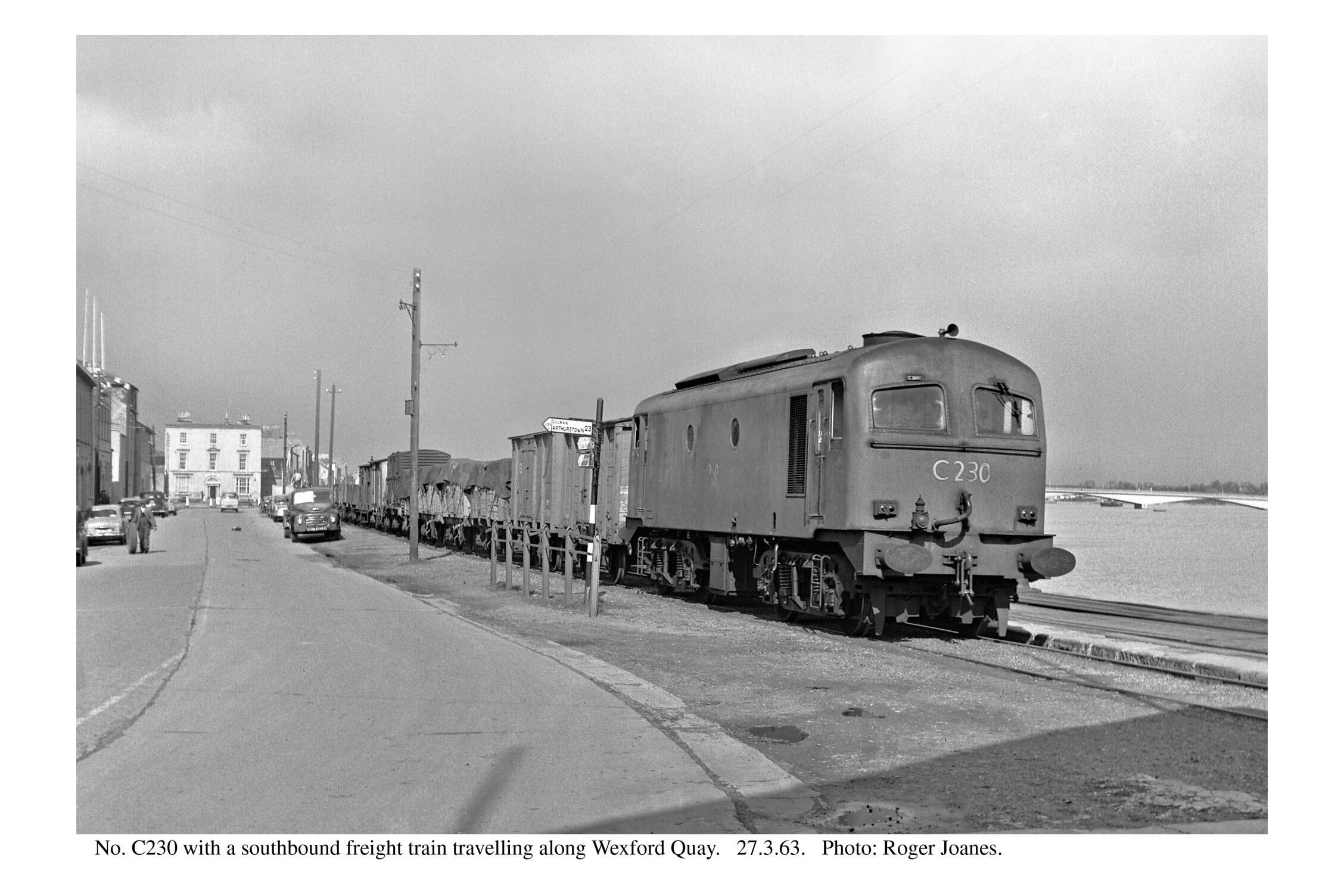 Wexford Quay. C230 southbound freight train.