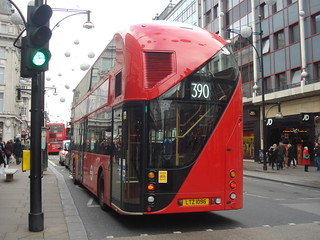 Metroline LT96 on Route 390, Oxford Street
