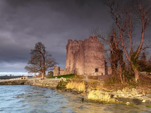 ireland winter lake storm castle beauty rain ross day ruin medieval kerry killarney bleak remote