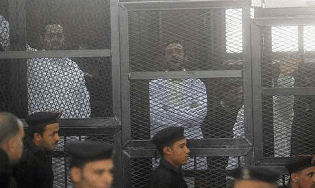 Egyptian youth activists Ahmed Doma, Mohamed Adel and Ahmed Maher were sentenced to three years in prison for holding a demonstration. The military-backed regime charged them with violating the new law. by Pan-African News Wire File Photos