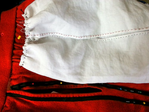 Gathering Pocket Top, Red Men's Outfit, from 1560's Italy, based heavily on Moroni portraits on MorganDonner.com
