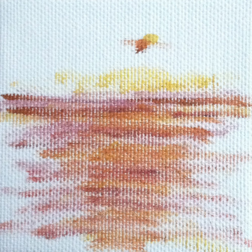 Sun and Water (Mini-Painting as of Dec. 21, 2013) by randubnick