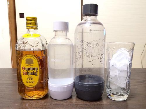 ソーダストリームのボトル大きさ比較