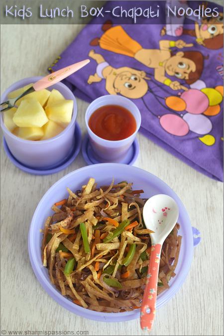 Chapati Noodles & Tomato Sauce