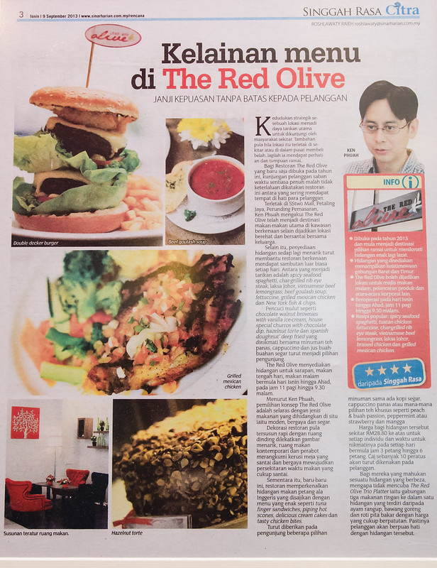 The Red Olive at SS2 Mall, Petaling Jaya