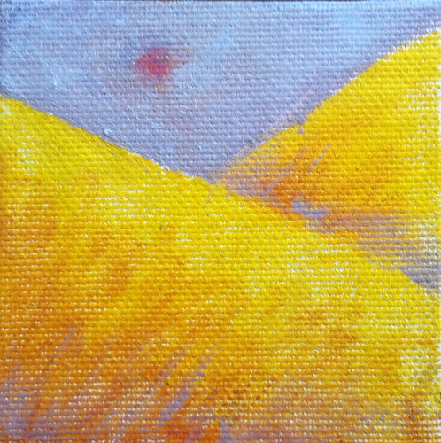 Golden Mountains (Mini-Painting as of Jan. 25, 2014) by randubnick