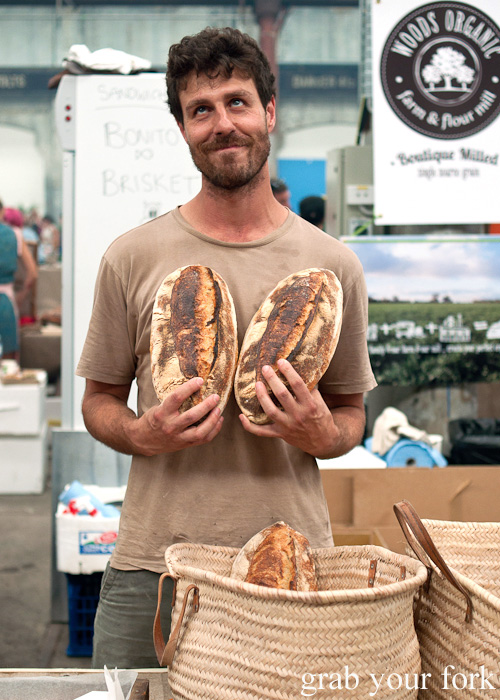 Simon Cancio, head baker and co-creator of Brickfields at the Sunday Marketplace, Rootstock Sydney 2014