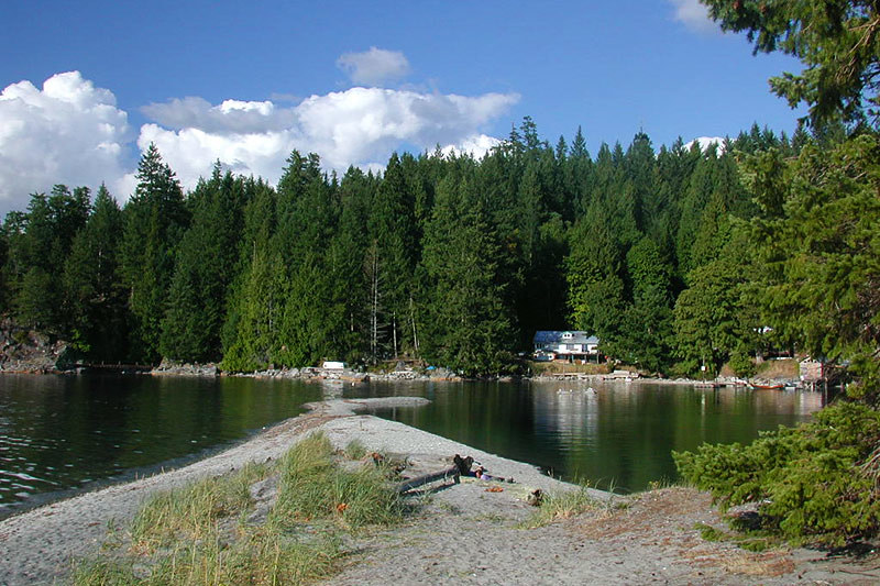 Mansons Landing Park, Cortes Island, Discovery Islands, British Columbia, Canada
