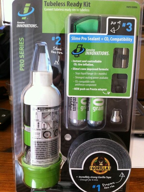 Genuine Innovations Tubeless ready kit on mtnbikeriders.com