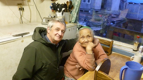 (L – R) Jim Nordlund, State Director – Alaska RD and 90 year old Xenia Nikoli, a resident of the village of Kwethluk. Photo credit: Tasha Deardorff