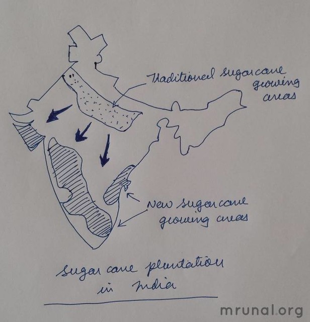 Geography Mains Answer Sugarmills in India