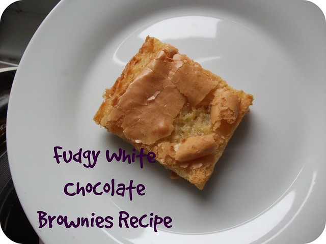 Fudgy White Chocolate Brownies Recipe