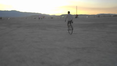 Unicycling across the Playa