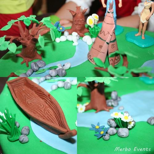 Detalles Tarta Sweet table Cumpleaños Pocahontas  Merbo Events