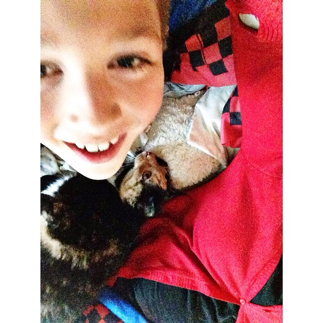 Cuddle time with Lucy the Cat and Ethan #myethan