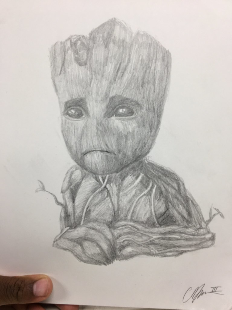 Baby Groot Drawing Legocreator75 Flickr
