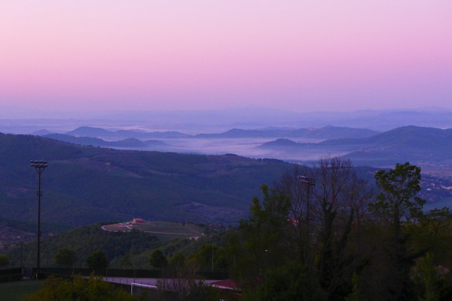 The view from Castel Rigone at dawn