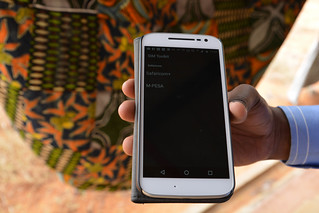 MPESA menu on a smartphone, Kenya