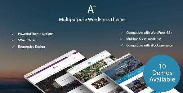A+ WordPress Theme free download