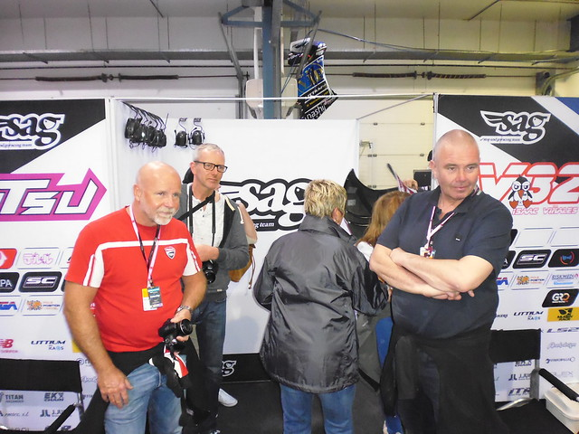Checking out the Moto2 Garage