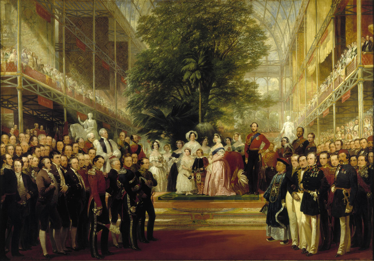 The Opening of the Great Exhibition by Queen Victoria on 1 May 1851 by Henry Courtney Selous, 1852