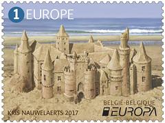 10 Europa Kastelen timbre