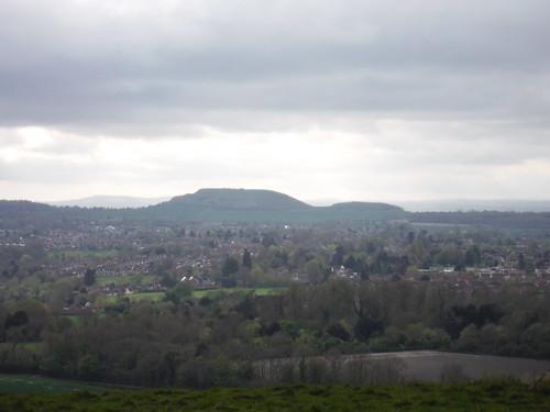 Cley Hill beyond Warminster