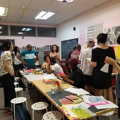 Zines and stuff. All About The People: A Self Care Zine Making Workshop Lead by Theresa Chromati (at Baltimore, Maryland)
