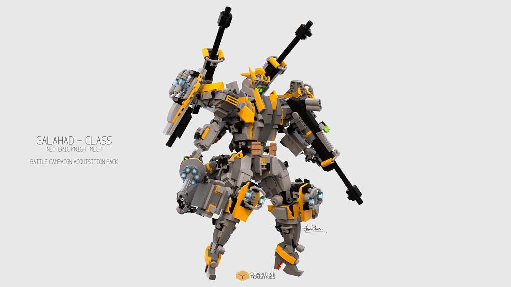 Galahad Class Mech Battle Campaign Acquistion Pack (custom built Lego model)