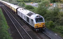 67029 'Royal Diamond' Alstrom / General Motors Class 67 Bo-Bo, DB Cargo(UK), Pixash Lane, Keynsham, Somerset