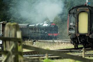 20170330-57_The Royal Scot Engine 46100 leaving Levisham Station